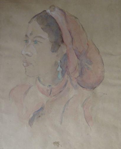 Ecole orientaliste, du XXe siècle  Portrait...