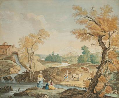 ECOLE HOLLANDAISE, vers 1800  Famille de...