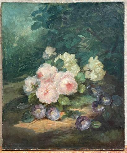 Ecole française, du XIXe siècle  Bouquet...