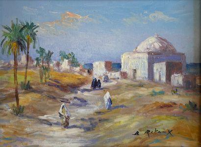 Bruno RETAUX (1947)  Paysage orientaliste...