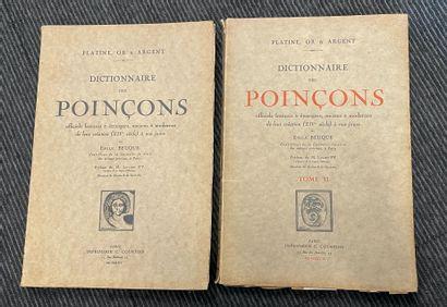 BEUQUE  Dictionnaire des poinçons  Deux volumes...