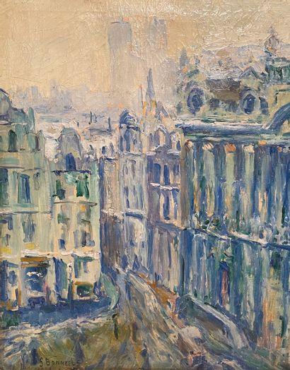 Gaston BONNEELS (1891-?)Vue sur Notre-Dame,...