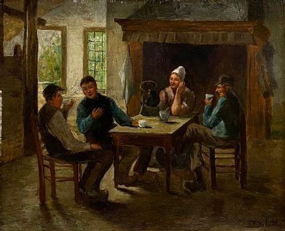 David De La MAR (1832-1898), attribué à  Café...