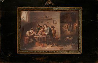 D'après TENIERS  Scène de taverne  Miniature...