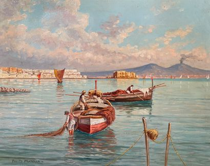 FAUSTO PRATELLA (1888-1946)  Les pêcheurs...