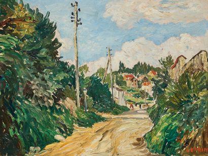MARCEL FRANCOIS LEPRIN (1891-1933)  Chemin...