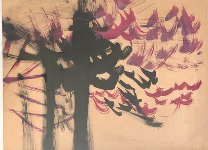 Jean JEGOUDEZ (1915)  Abstraction  Technique...