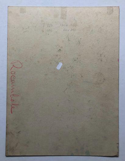 Rocambole  Maquette  Gouache signée en bas à gauche Vanni TEALDI  49 x 36,5 cm ...