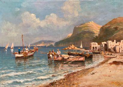 Fausto PRATELLA (1886-1964)Retour de pêche...