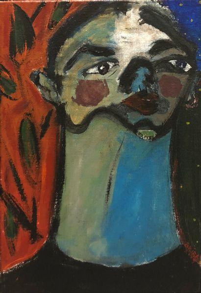 BRIBA Pascal  Sans titre  Acrylique sur toile,...