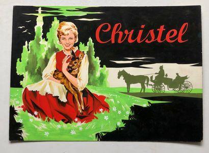 Christel  Maquette  Gouache  31,5 x 44 c...