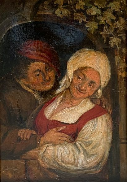 Dans le gout de l'école Hollandaise, du XVIIe...