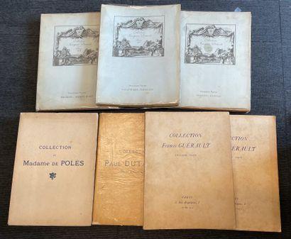 Anciens catalogues de vente dont Jacques...