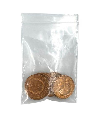 Lot de 10 pièces vingt francs or Poids:...