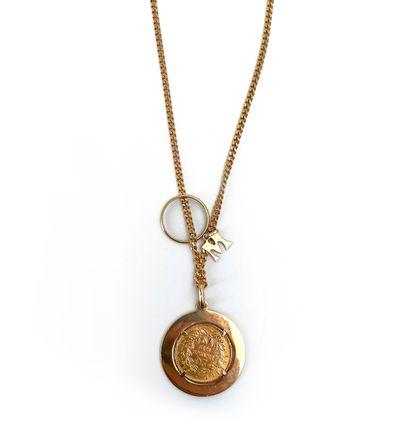 Pièce de vingt francs or montée en pendentif...