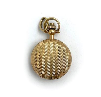 Montre savonnette en métal doré