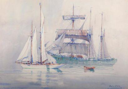 MARIN-MARIE (1901-1987) Paul DURAND COUPPEL de ST FRONT dit peintre de la Marine