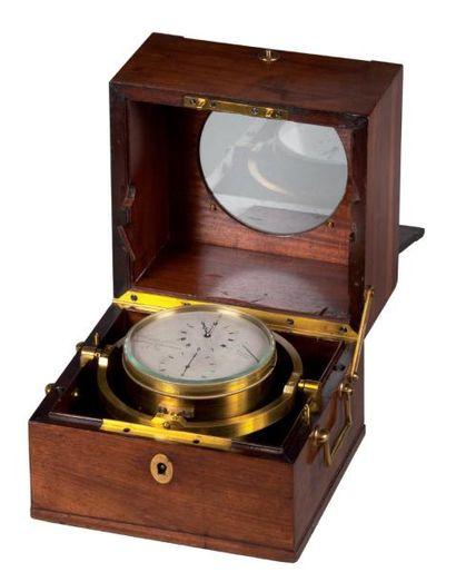 Chronomètre de marine huit jours n° 3218...