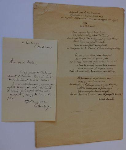 COLLECTION D'AUTOGRAPHES. Ensemble de documents (lettres, cartes ou photographies)...