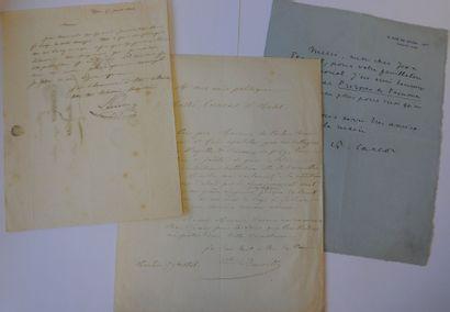 COLLECTION D'AUTOGRAPHES. Ensemble de documents...