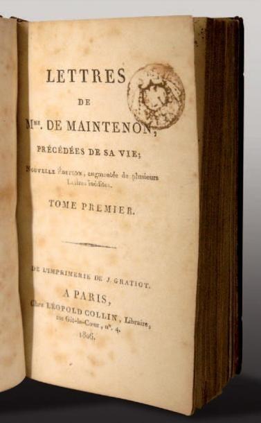 [BIBLIOTHÈQUE DE SAINTE-HÉLÈNE]. Lettres...