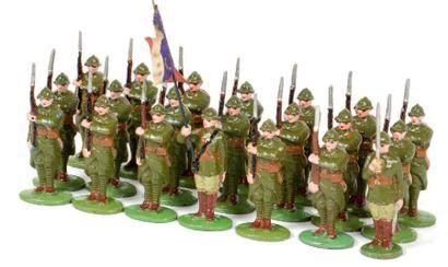 Infanterie de ligne. (1939) Au fixe. Tenue...