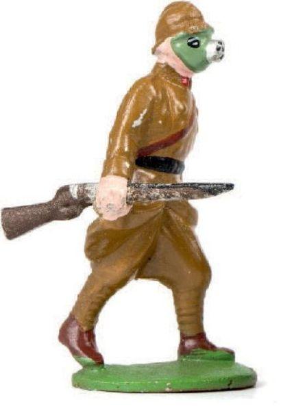 Infanterie de ligne. (1939) Avec masques...