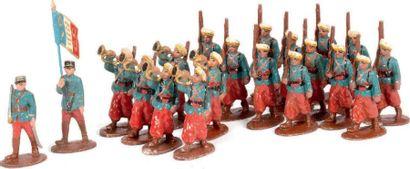 Tirailleurs marocains. (1939) Vareuse bleue,...