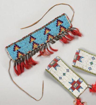 Petite bande perlée Sioux. Dakota du Sud,...