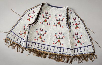 Gilet Sioux Oglala. Dakota du Sud, U.S.A....