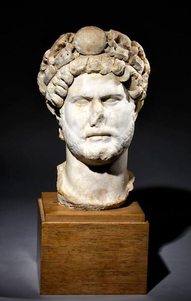 Portrait d'Hadrien Empereur de 117 à 138...