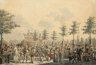 Attribué à Dirk LANGENDIJK (1748-1805)