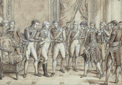 Attribué à Claude-Louis DESRAIS (1746-1816)