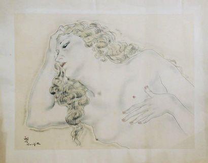 D'après Tsuguharu-Léonard FOUJITA (1886-1968)