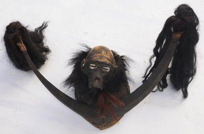 Coiffe de chasseur Naga – Nagaland – H. :...