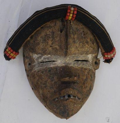 Masque Dan – Rép. de Côte d'ivoire – H. :...