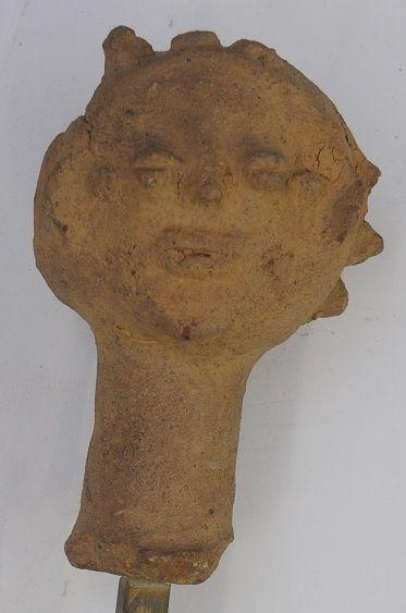 Statuette en terre cuite – Ghana – H. : 12...