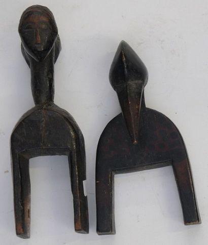 3 Poulies de métier à tisser – Baoulé - Guro...