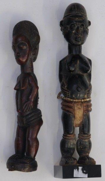 Deux statuettes féminines Baoulé – Rép. de...