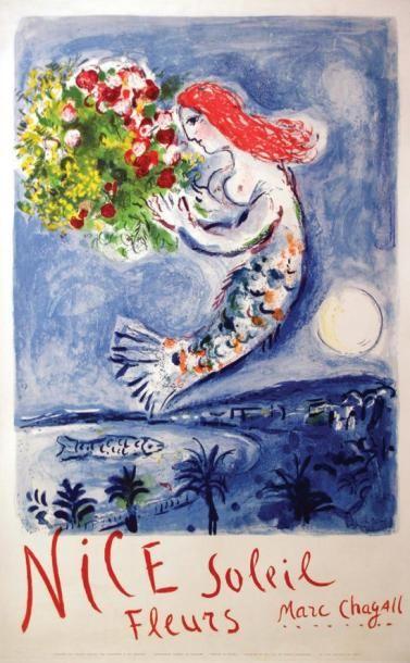 Marc Chagall - Nice Soleil Fleurs / CHAGALL...