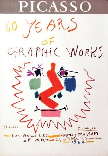 Picasso 60 Years of Graphic Works 1966 /...