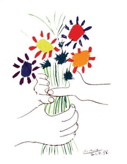 Picasso - Le Bouquet 1958 / PICASSO PABLO...