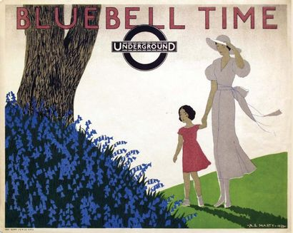 Bluebell Time Underground 1933 / MARTY A.E....
