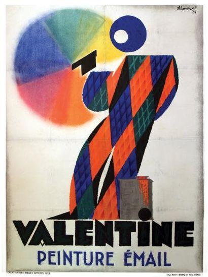 Valentine 1928 / LOUPOT / Peinture Email....