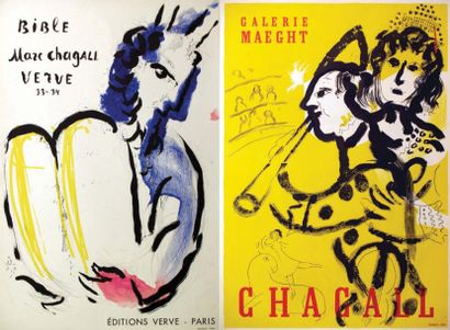 Lot de 2 Affiches Chagall / Bible. Marc Chagall....