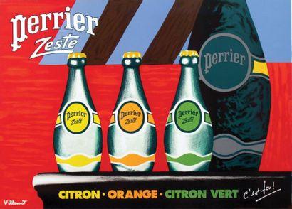 Perrier Zeste / VILLEMOT / C'est fou! 1 Affiche...