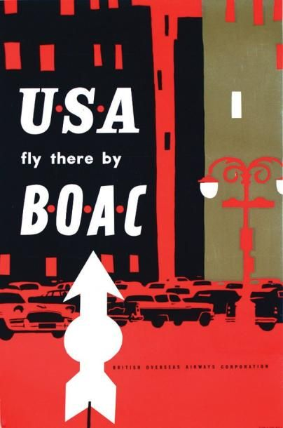 U.S.A fly there by B.O.A.C / Great Britain...