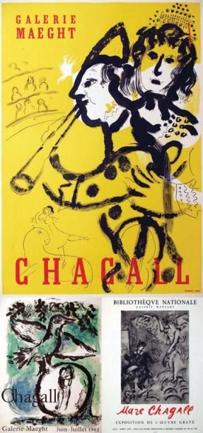 Lot de 3 Affiches Chagall / CHAGALL MARC...