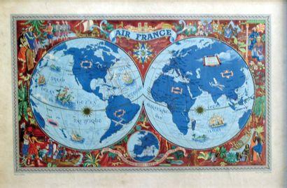 Planisphère Air France / BOUCHER LUCIEN /...