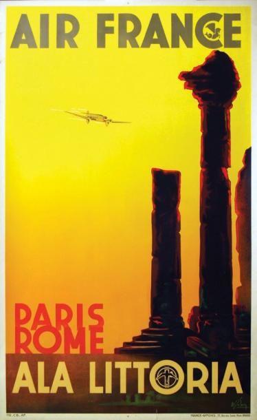 Air France / SOLON / Paris Rôme - Ala Littoria....